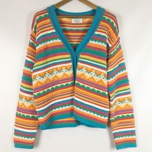 Vintage | bright rainbow grandma sweater 0533